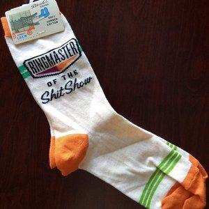3/$25 fun gag ringmaster socks NWT